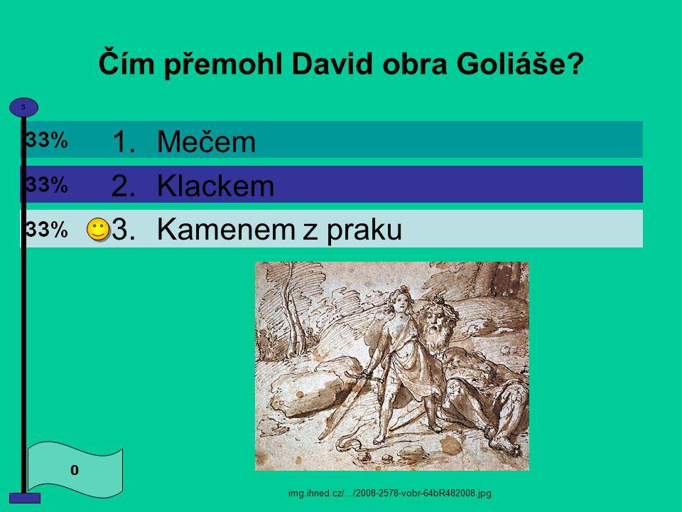 Čím přemohl David obra Goliáše.