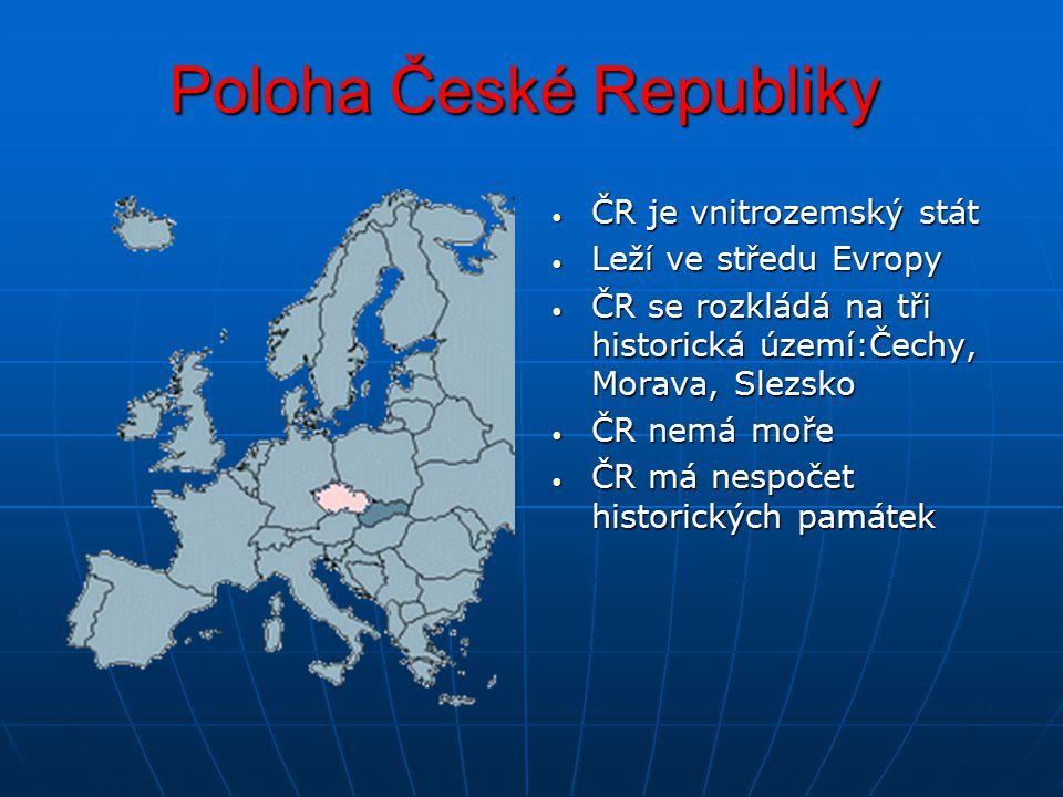 Hranice ČR ČR hraničí ze 4 státy ČR hraničí ze 4 státy Západ - Německo Západ - Německo Sever - Polsko Sever - Polsko Východ - Slovensko Východ - Slovensko Jih - Rakousko Jih - Rakousko