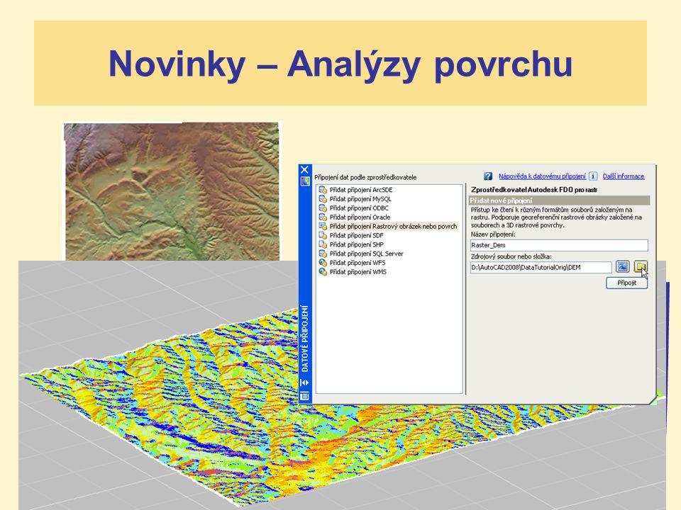 AUTODESK ACADEMIA FORUM 2007 Novinky – Analýzy povrchu