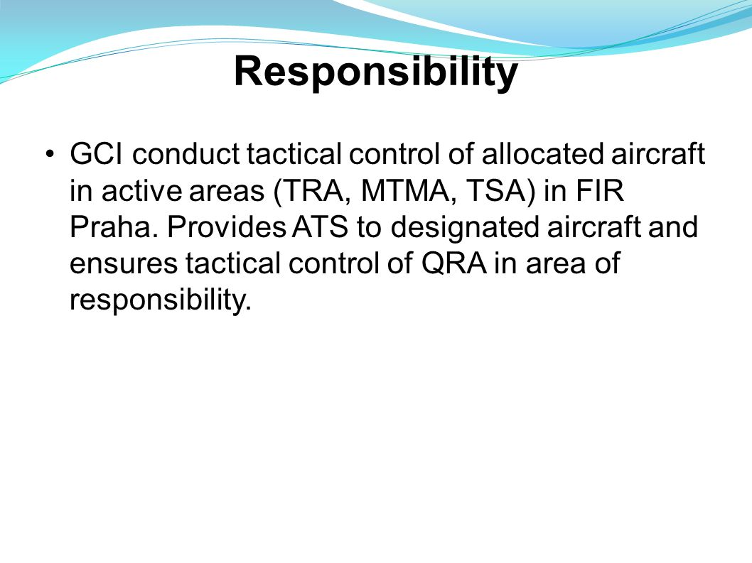 GCI follows regulation and rules acoording to valid directives and coordination aggreements while providing ATS.