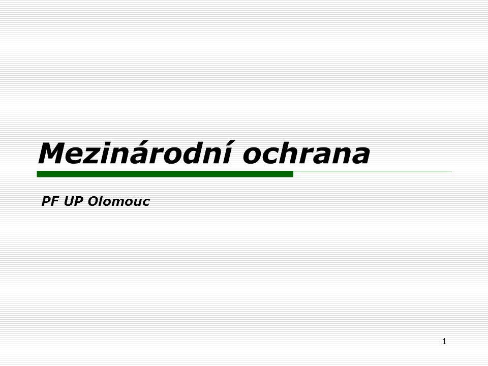 1 Mezinárodní ochrana PF UP Olomouc