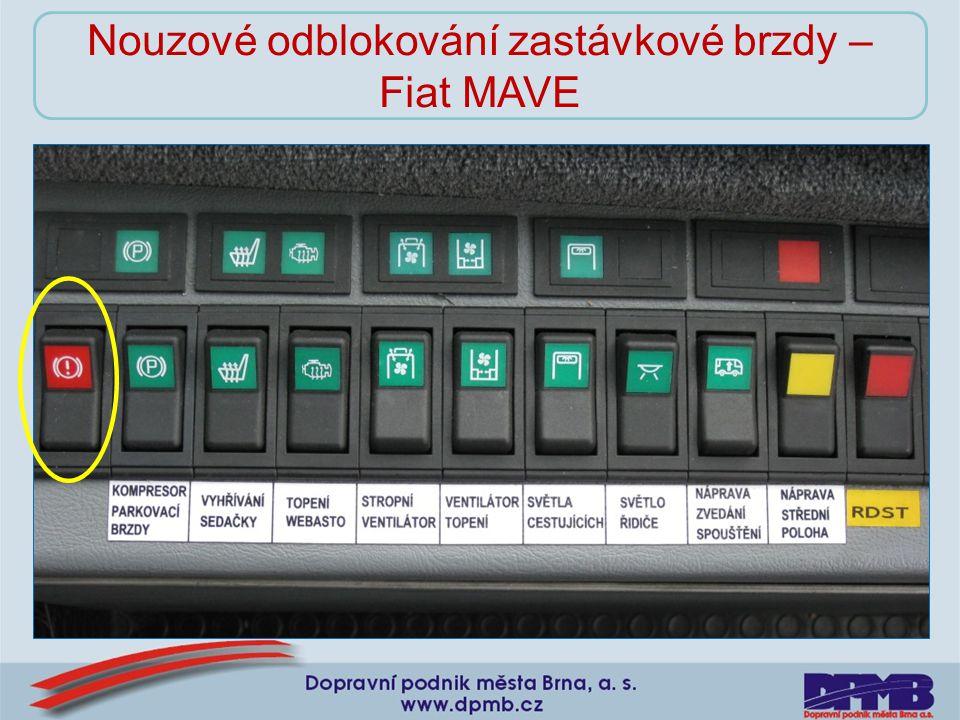Nouzové odblokování zastávkové brzdy – Fiat MAVE