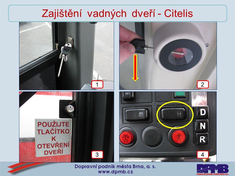 12 34 Zajištění vadných dveří - Citelis