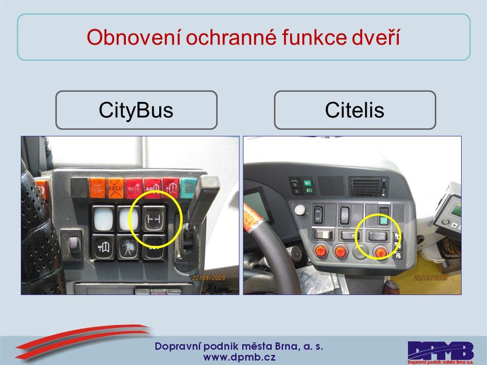 CitelisCityBus Obnovení ochranné funkce dveří