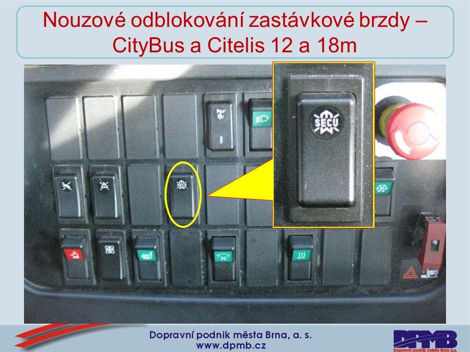 Nouzové odblokování zastávkové brzdy – CityBus a Citelis 12 a 18m