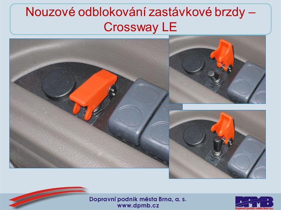 Nouzové odblokování zastávkové brzdy – Crossway LE