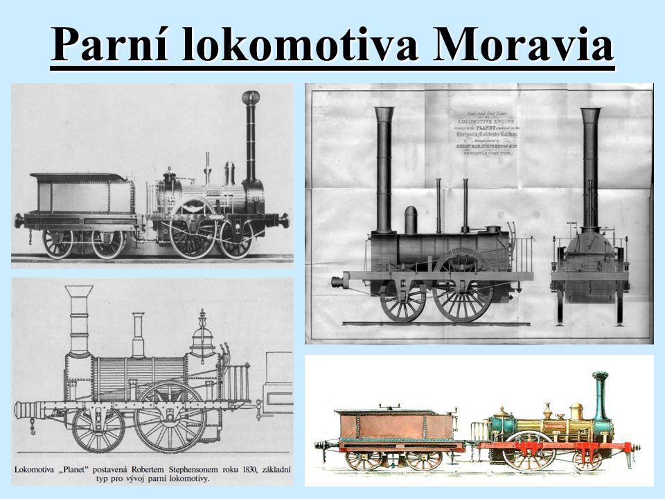 """Ukázka výkresů lokomotivy """"Moravia"""