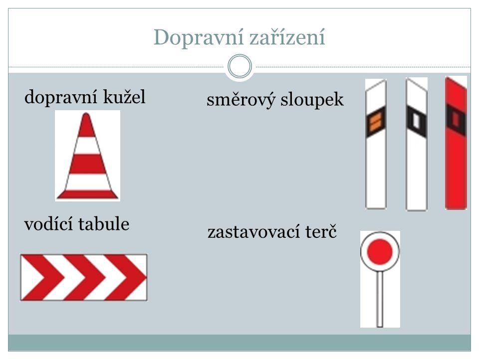 Dopravní značky vodorovné přechod pro chodce přejezd pro cyklisty jízdní pruh pro cyklisty parkovací pruh