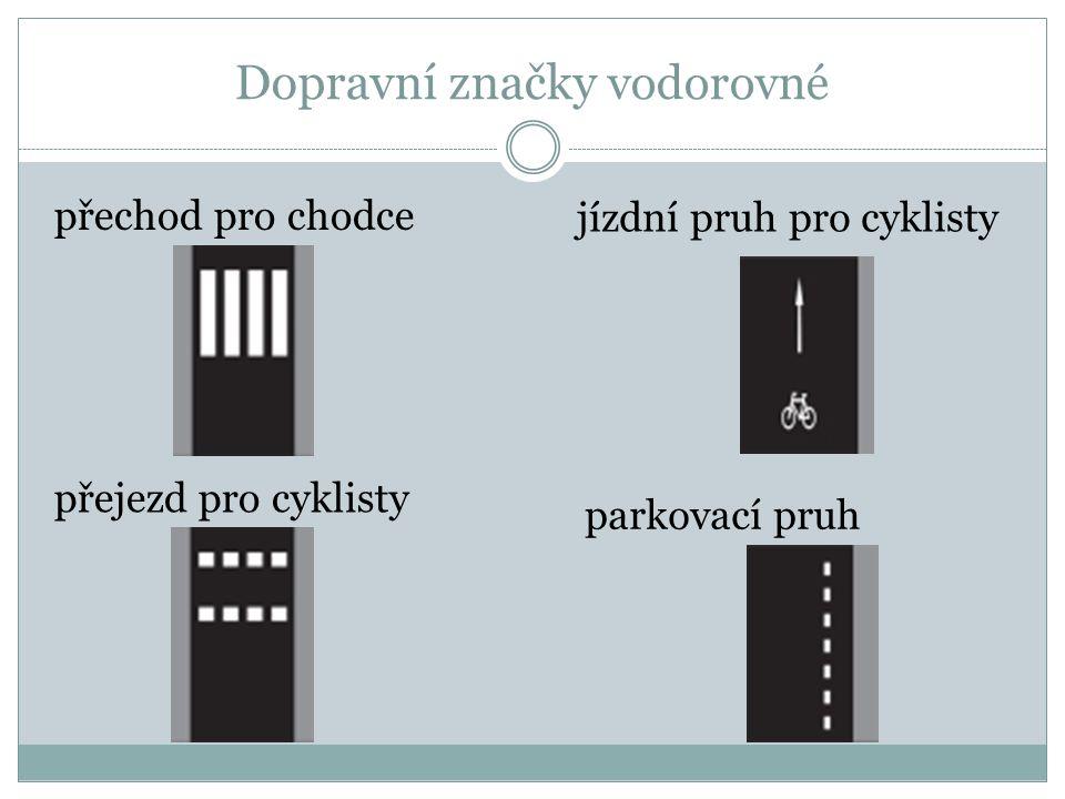 Dopravní značky – dodatkové tabulky tvar křižovatky počet vzdálenost
