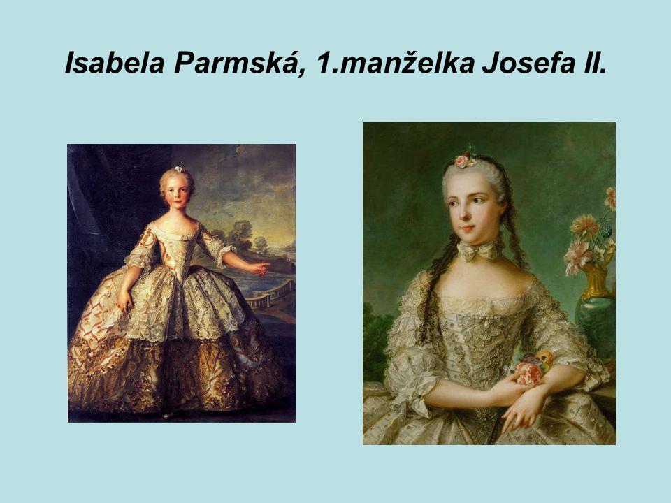Isabela Parmská, 1.manželka Josefa II.