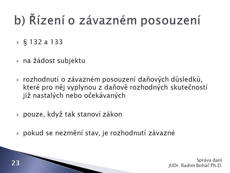 Správa daní JUDr.Radim Boháč Ph.D.
