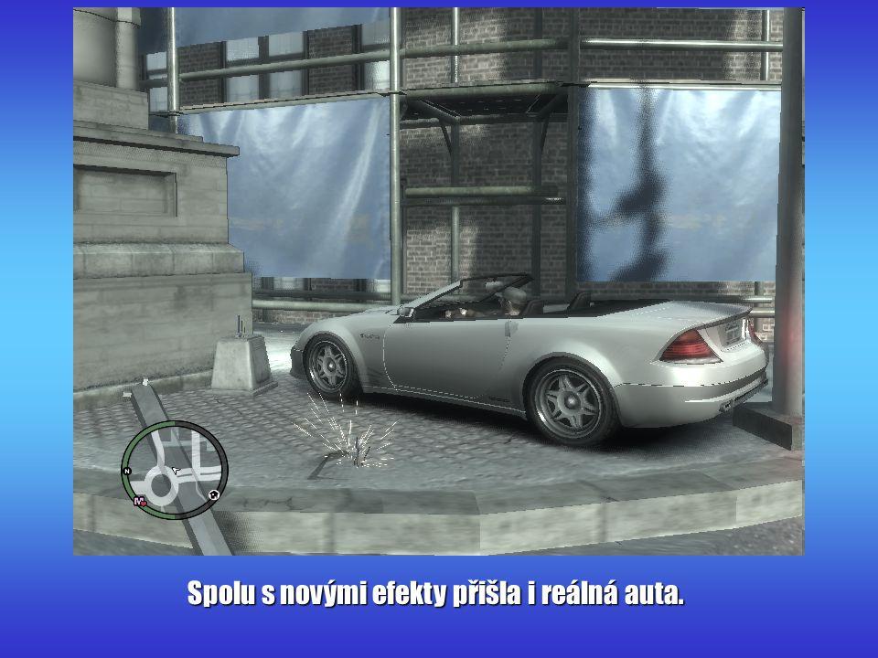 Spolu s novými efekty přišla i reálná auta.