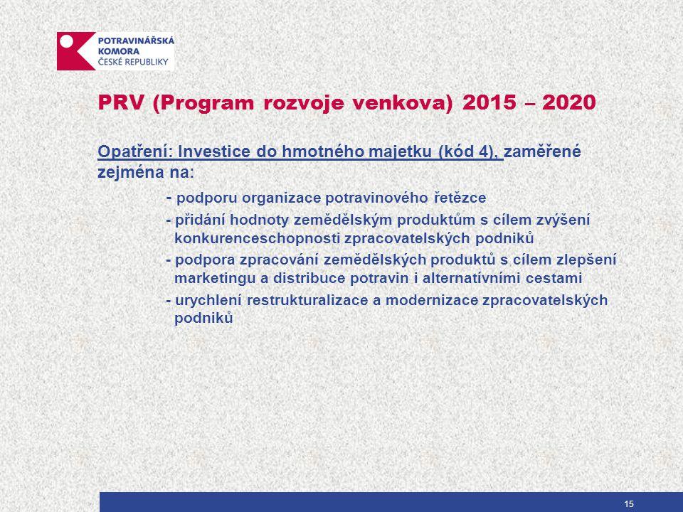 Cíle Konkurenceschopnost českého potravinářského průmyslu - znamená: 1.Rovný přístup potravinářských výrobců k národním i evropským podporám 2.Férový přístup do české maloobchodní sítě a ke konečnému spotřebiteli 3.Podpora exportu přidané hodnoty 16
