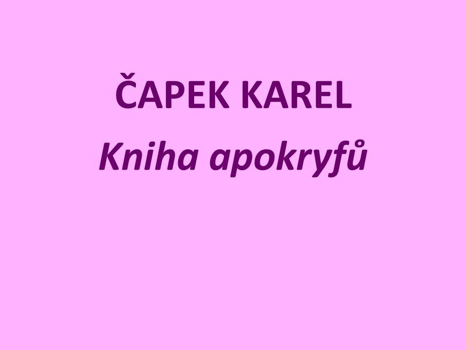 ČAPEK KAREL Kniha apokryfů