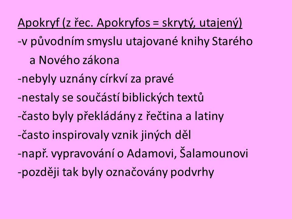 Apokryf (z řec.