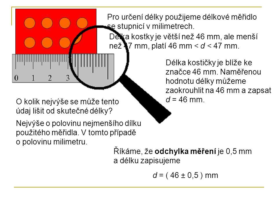 Při měření porovnáváme měřenou fyzikální veličinu (např.