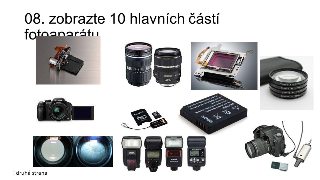 08. zobrazte 10 hlavních částí fotoaparátu I druhá strana