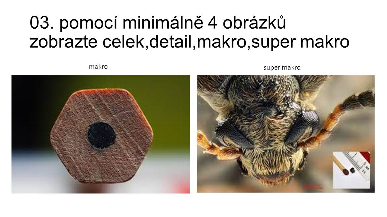 03. pomocí minimálně 4 obrázků zobrazte celek,detail,makro,super makro makro super makro
