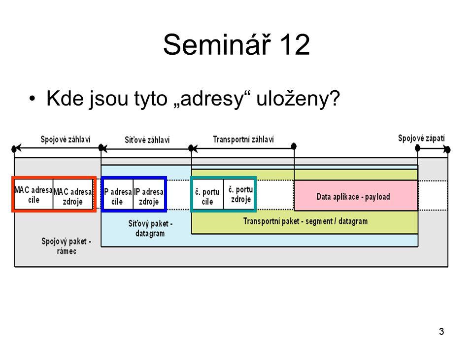 4 Seminář 12 Jak zjistí klientská aplikace, jaké je číslo portu procesu, který provádí požadovanou síťovou službu.