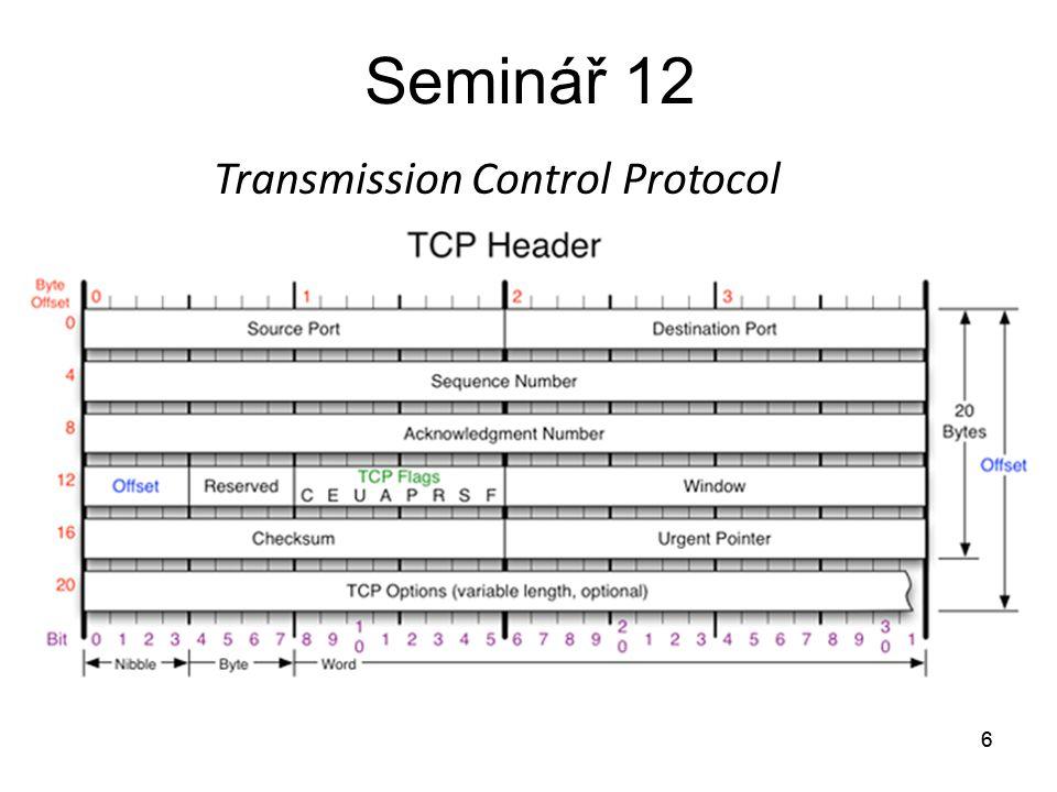 6 Seminář 12 6 Transmission Control Protocol