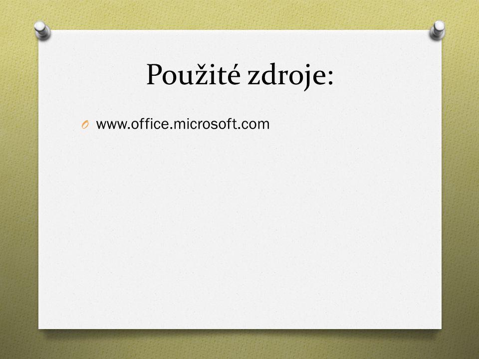 Použité zdroje: O www.office.microsoft.com