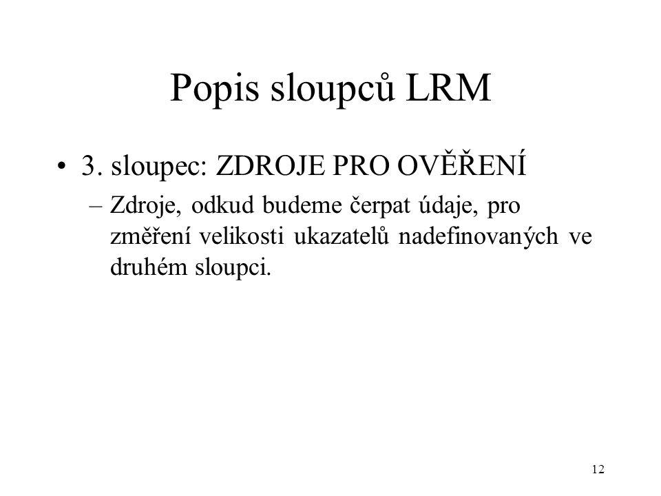12 Popis sloupců LRM 3.