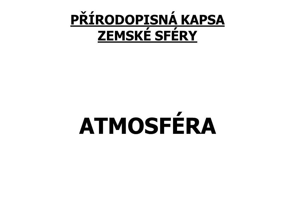 PŘÍRODOPISNÁ KAPSA ZEMSKÉ SFÉRY ATMOSFÉRA