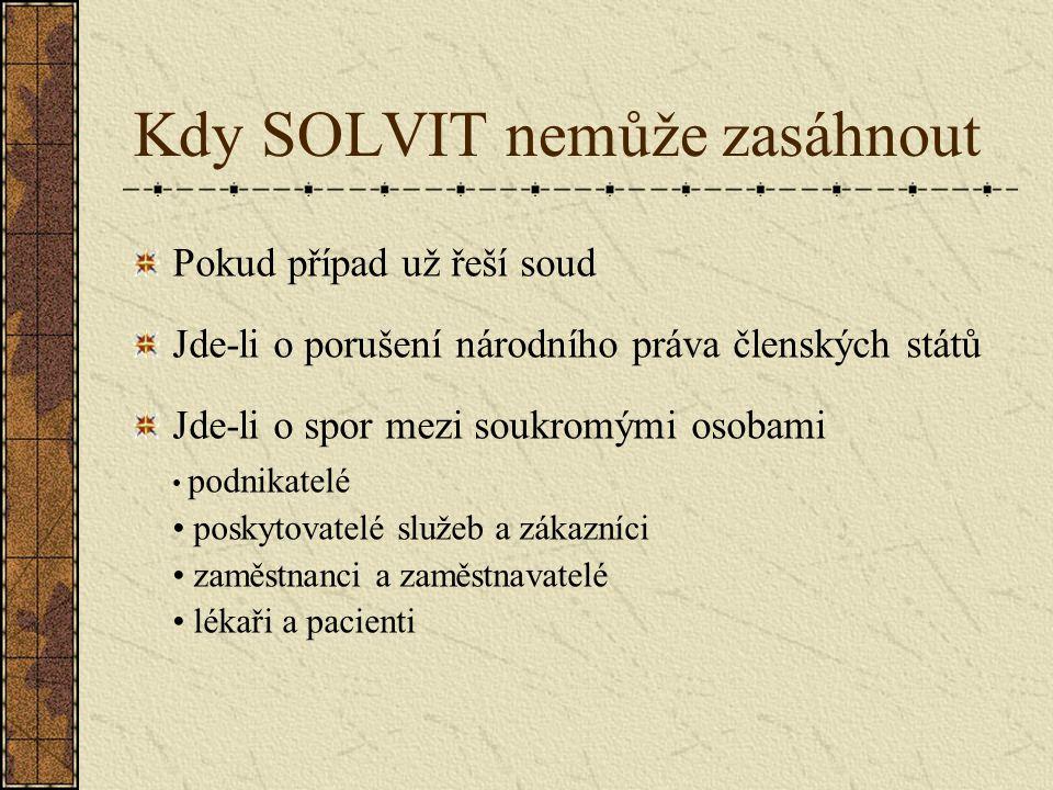 Proč SOLVIT .