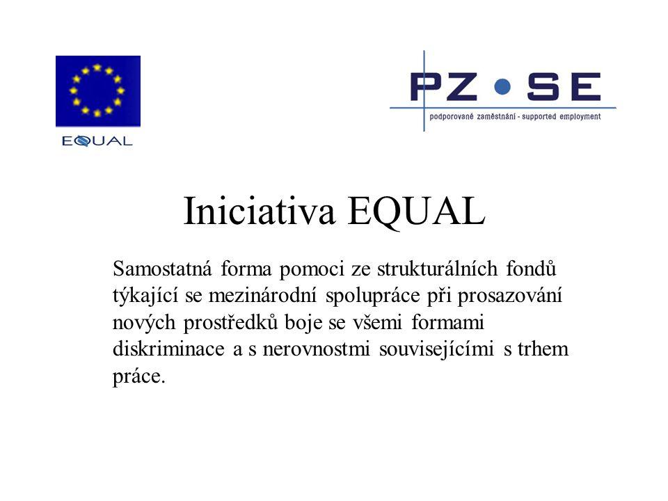 Iniciativa EQUAL Samostatná forma pomoci ze strukturálních fondů týkající se mezinárodní spolupráce při prosazování nových prostředků boje se všemi fo