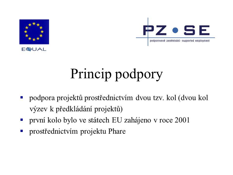 Princip podpory  podpora projektů prostřednictvím dvou tzv. kol (dvou kol výzev k předkládání projektů)  první kolo bylo ve státech EU zahájeno v ro