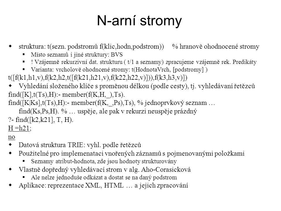 N-arní stromy  struktura: t(sezn.