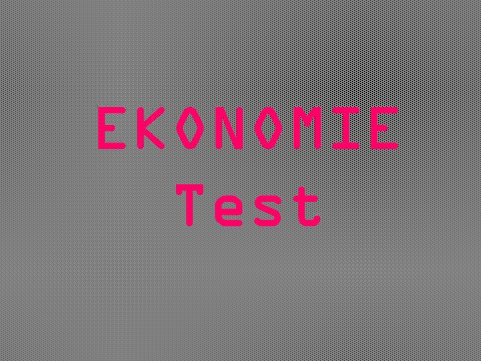 EKONOMIE Test