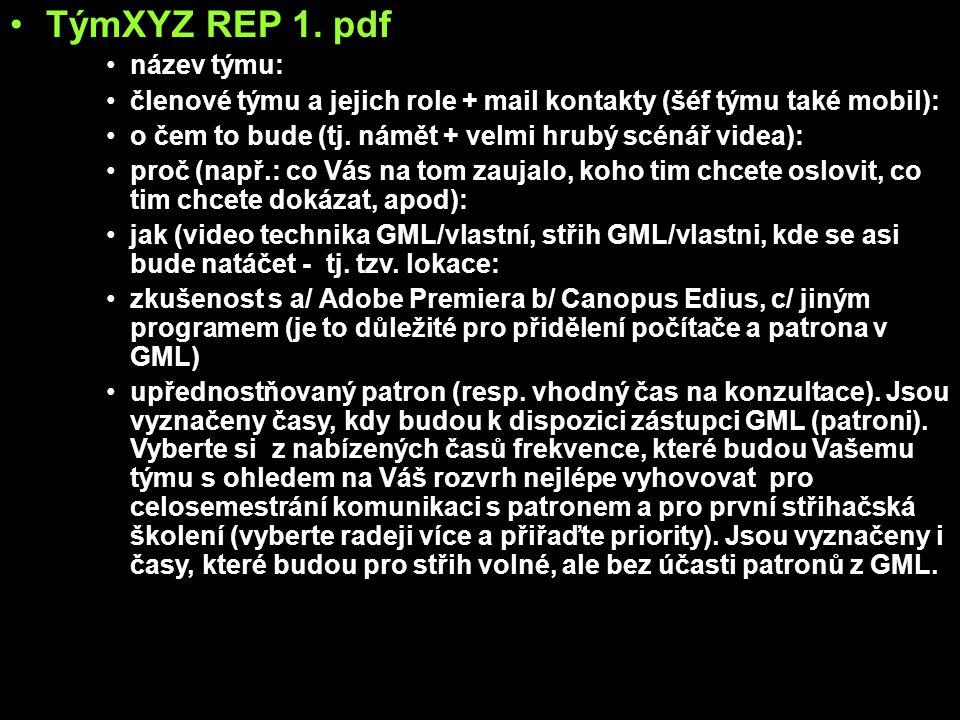 TýmXYZ REP 1.