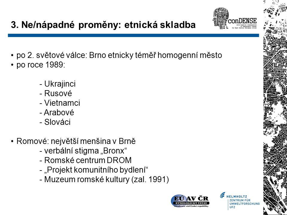 Diferenciace vnitřního města (1) Pramen: Ústav geoniky Brno (2007)