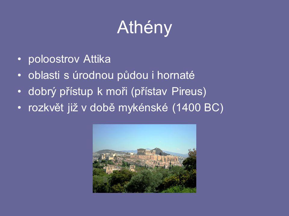 Athénské peníze Mincovní soustava v klasických Athénách 1 talent = 60 min 1 mina = 100 drachem 1 statér = 2 drachmy 1 drachma = 6 obolů 1 obolos = 8 chalkoi