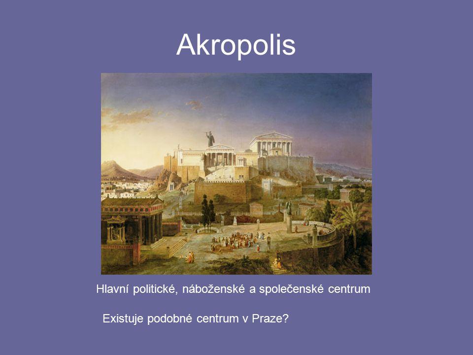 """Akropolis Akropolis je možno přeložit jako horní město, """"vyšehrad . Znáš české památky?"""
