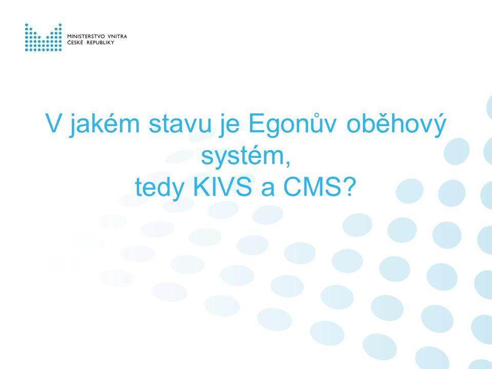 V jakém stavu je Egonův oběhový systém, tedy KIVS a CMS