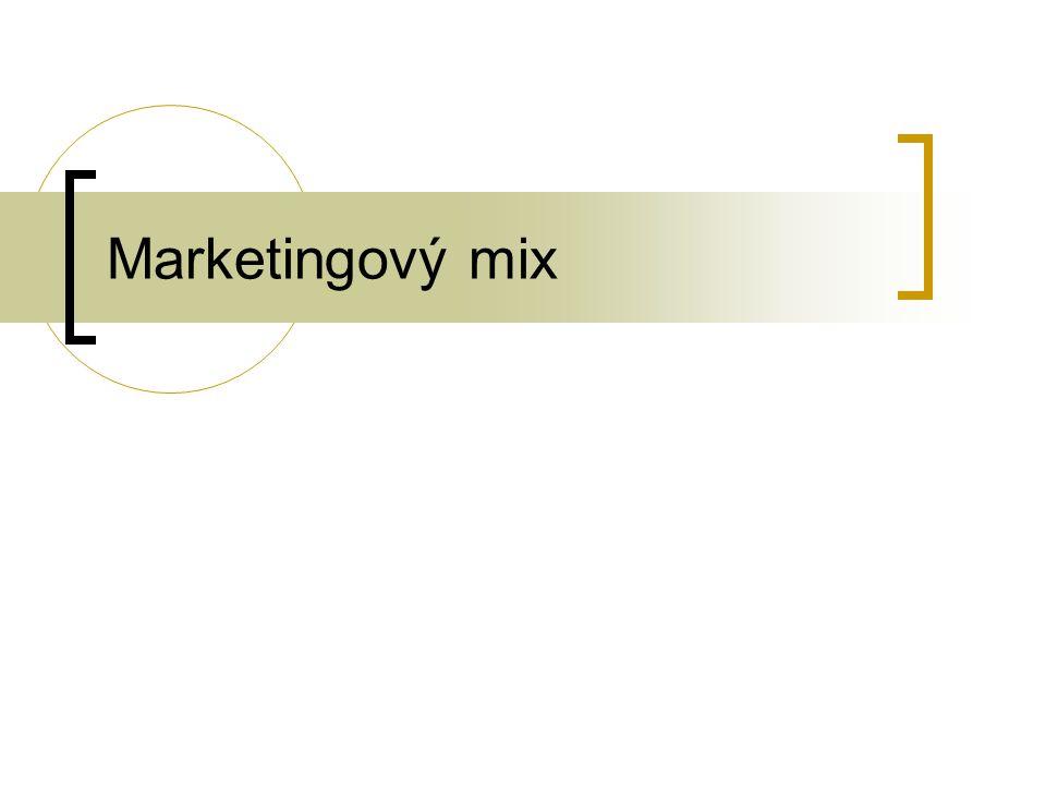 Jakmile se podnik rozhodne o strategii umístění výrobku, začíná vyvíjet řadu aktivit pro ovlivňování potřeb a přání zákazníků 4 P marketingu Product Price Place Promotion