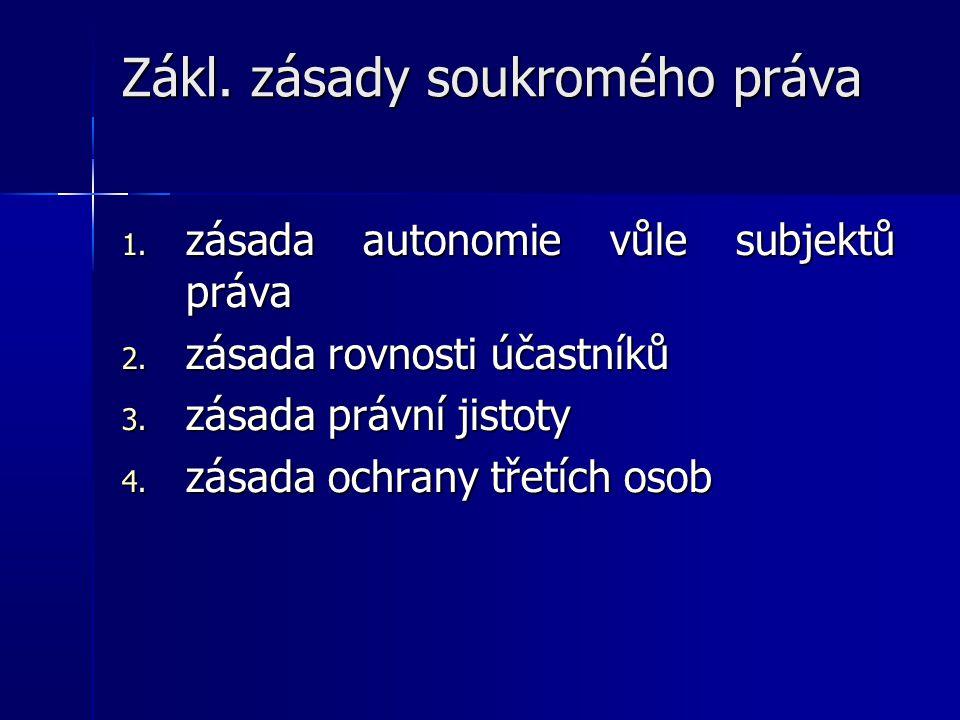 5.pacta sunt servanda (smlouvy se mají dodržovat) 6.