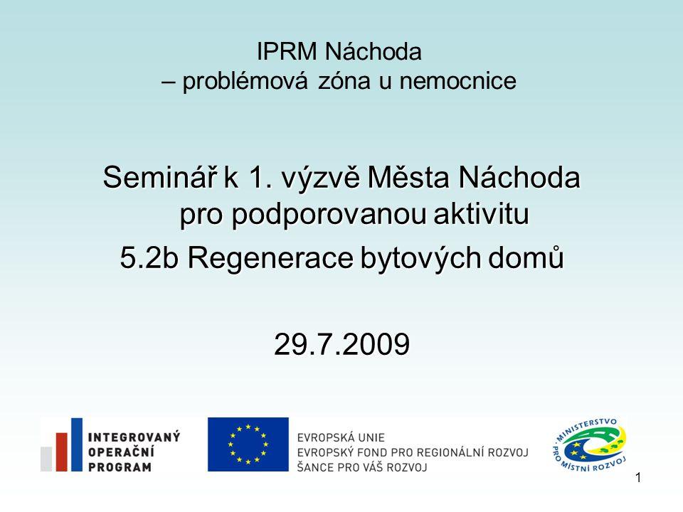 IPRM Náchoda – problémová zóna u nemocnice Seminář k 1.
