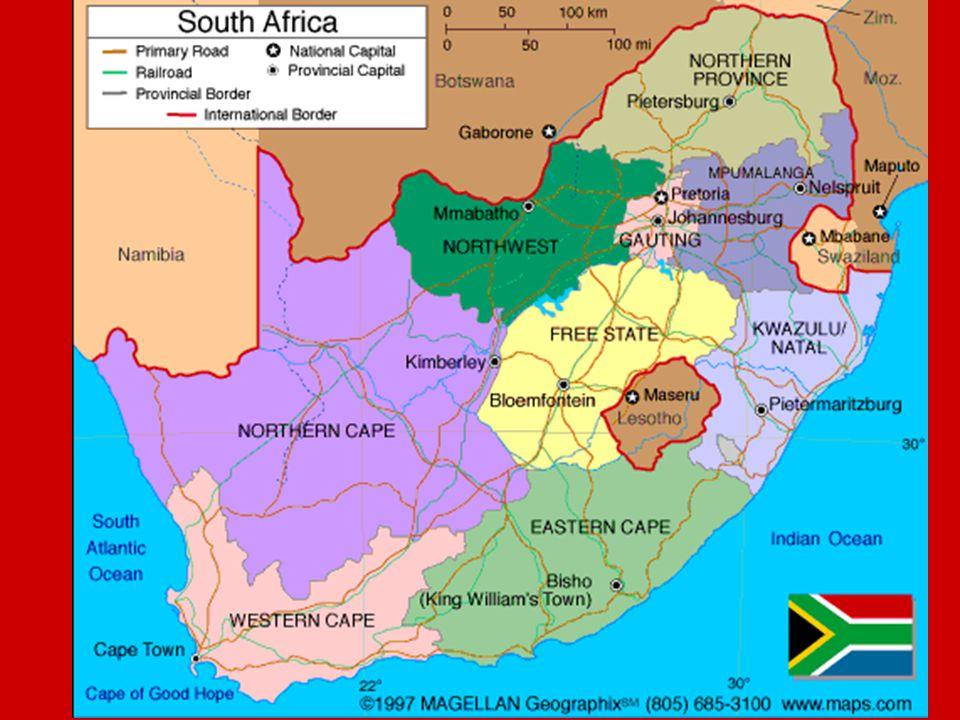 Obecné informace Hlavní město: Pretoria Počet obyvatel: 43 997 828 Rozloha: 1 219 912 km² Státní zřízení: republika (31.5.