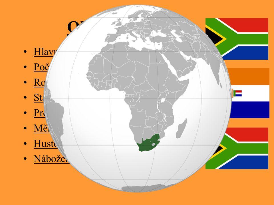 Obecné informace Hlavní město: Pretoria Počet obyvatel: 43 997 828 Rozloha: 1 219 912 km² Státní zřízení: republika (31.5. 1910) Prezident: Thabo Mbek