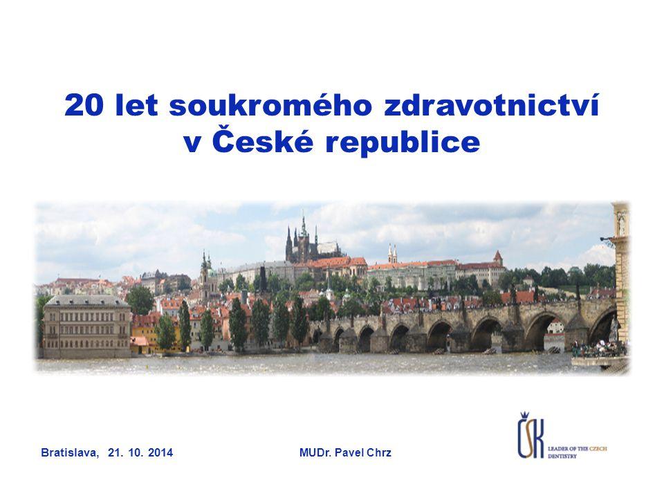 20 let soukromého zdravotnictví v České republice Bratislava, 21. 10. 2014 MUDr. Pavel Chrz