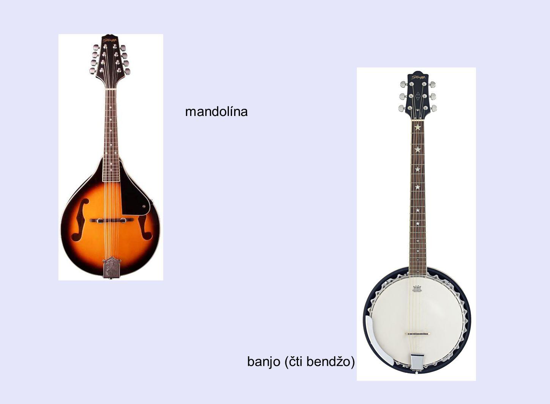 mandolína banjo (čti bendžo)