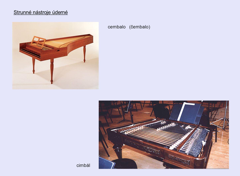 Strunné nástroje úderné cembalo (čembalo) cimbál
