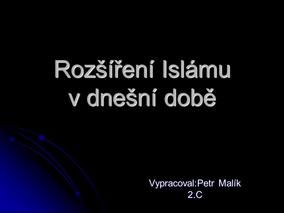 Rozšíření Islámu v dnešní době Vypracoval:Petr Malík 2.C