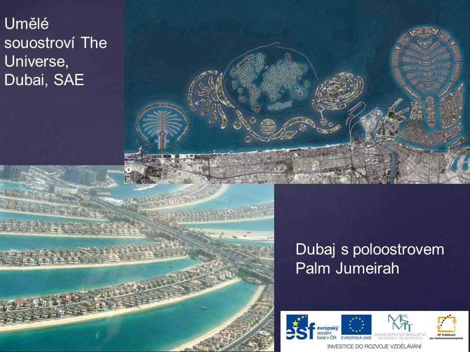 Umělé souostroví The Universe, Dubai, SAE Dubaj s poloostrovem Palm Jumeirah