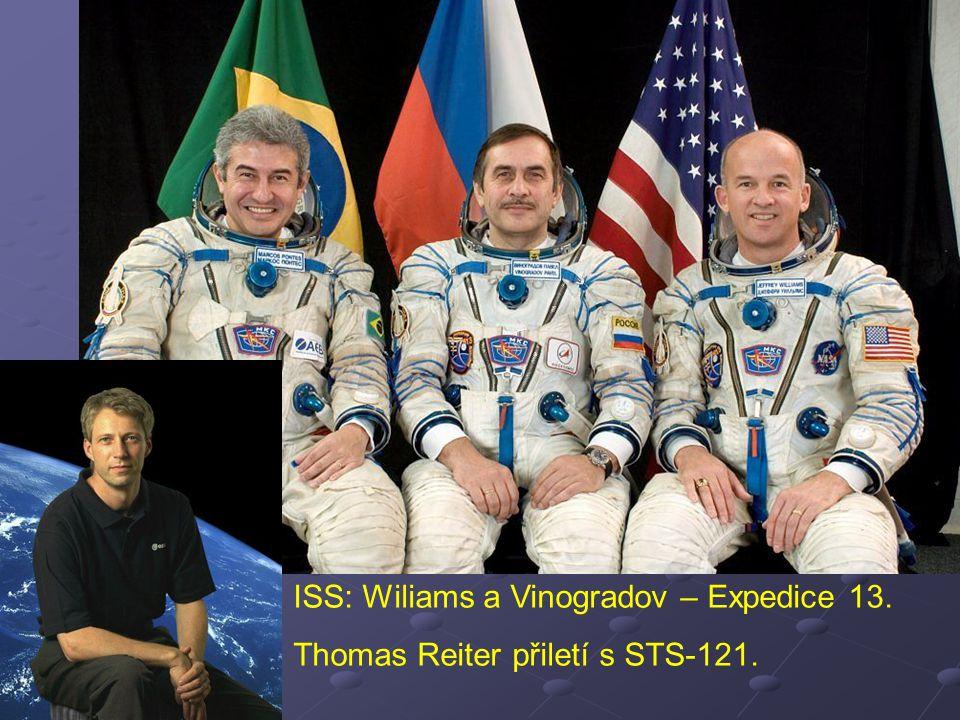 ISS: Wiliams a Vinogradov – Expedice 13. Thomas Reiter přiletí s STS-121.