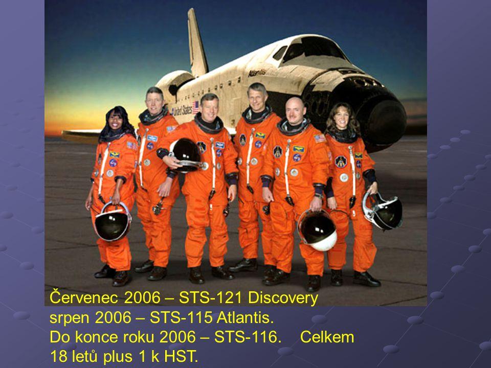 Červenec 2006 – STS-121 Discovery srpen 2006 – STS-115 Atlantis. Do konce roku 2006 – STS-116. Celkem 18 letů plus 1 k HST.