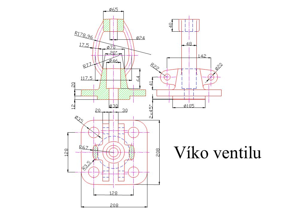 Víko ventilu